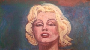 """""""Marilyn at Forty"""" Oil painting by Ted Barr"""