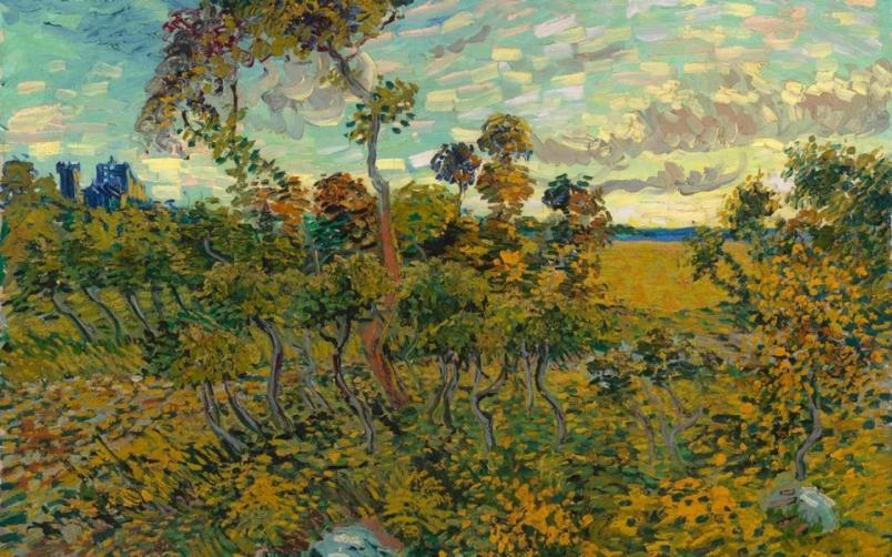 "Van Gough --""Sunset at Montmajour"" July 4, 1888"