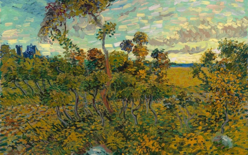 "Van Gough --""Sunset at Montmajour"" July 4, 1888"