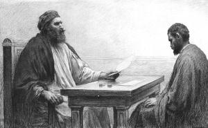 Parable of the Dishonest Steward—Eugene Burnand