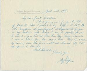 Deissmann to Robertson_2 Apr 1927