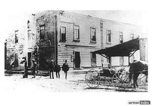 Azusa Street Mission--312 Azusa Street circa 1906