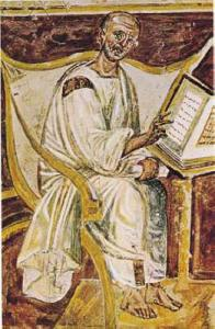 Earliest known portrait of St. Augustine