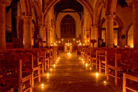 church and candles