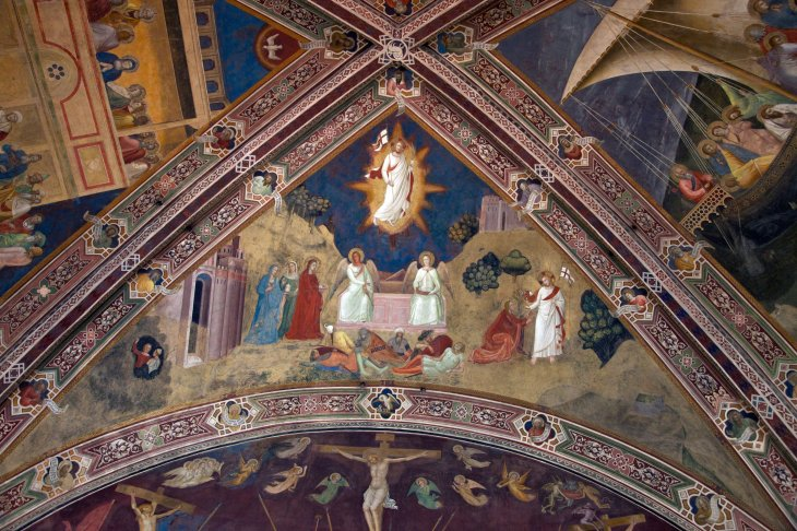 The Resurrection, by Andrea di Bonaiuto, 1365-1367, Spanish Chapel, Basilica of Santa Maria Novella, Florence Italy