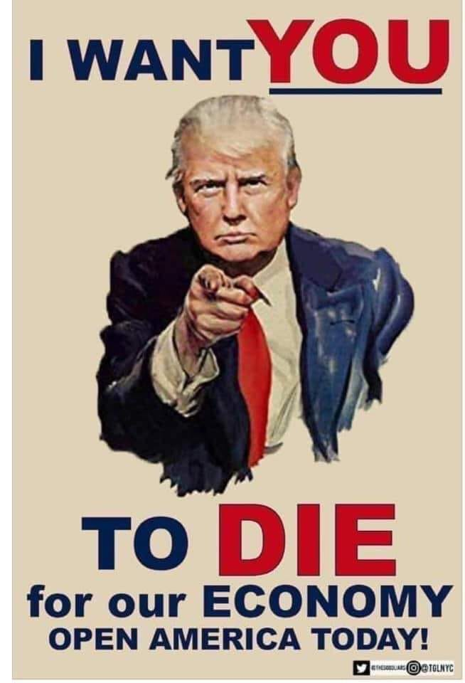 Trump want you to die
